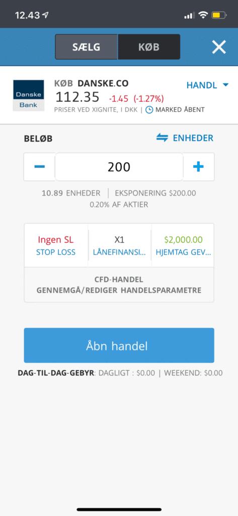 danske bank aktie app