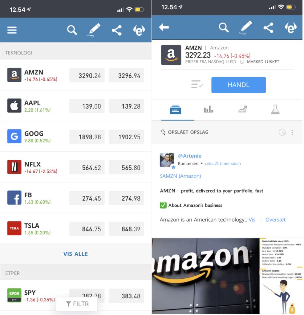 etoro aktie app på mobil