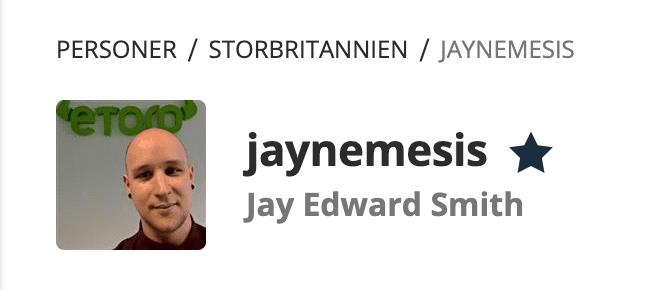 Jay Edward Smith på eToro.